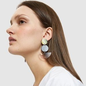 "Rachel Comey ""Neale"" acrylic drop acetate earrings"